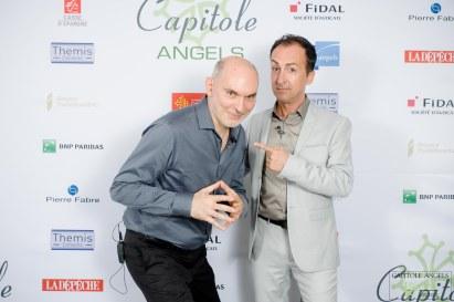 10ans Capitole Angels 130617 - Patrice CAZALAS (à droite sur la photo) avait convié Olivier EZRATTY (à gauche) pour les 10 ans de Capitole Angels - crédit Pixcity